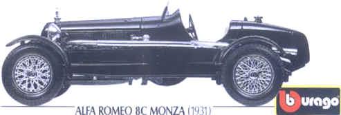 TYPE 59 SPIDER 1934 1//18 BURAGO BUGATTI